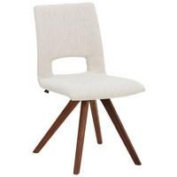 STUHL in Holz, Textil Nussbaumfarben, Sandfarben - Sandfarben/Nussbaumfarben, Design, Holz/Textil (51/90/61cm) - Venjakob