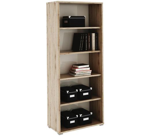 REGÁL NA SPISY, bílá, barvy dubu - bílá/barvy dubu, Design, kompozitní dřevo (75/182,6/38cm) - Xora