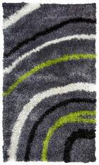 TEPIH VISOKOG FLORA - siva/zelena, Basics, tekstil (80/150cm) - Novel