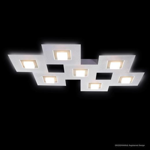 LED-DECKENLEUCHTE - Champagner/Alufarben, MODERN, Metall (80/60/5,3cm)