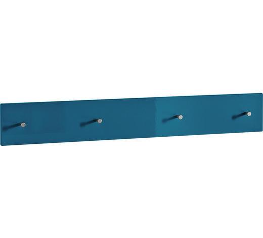 GARDEROBENLEISTE - Petrol, Design, Holzwerkstoff (106/15/5cm) - Xora