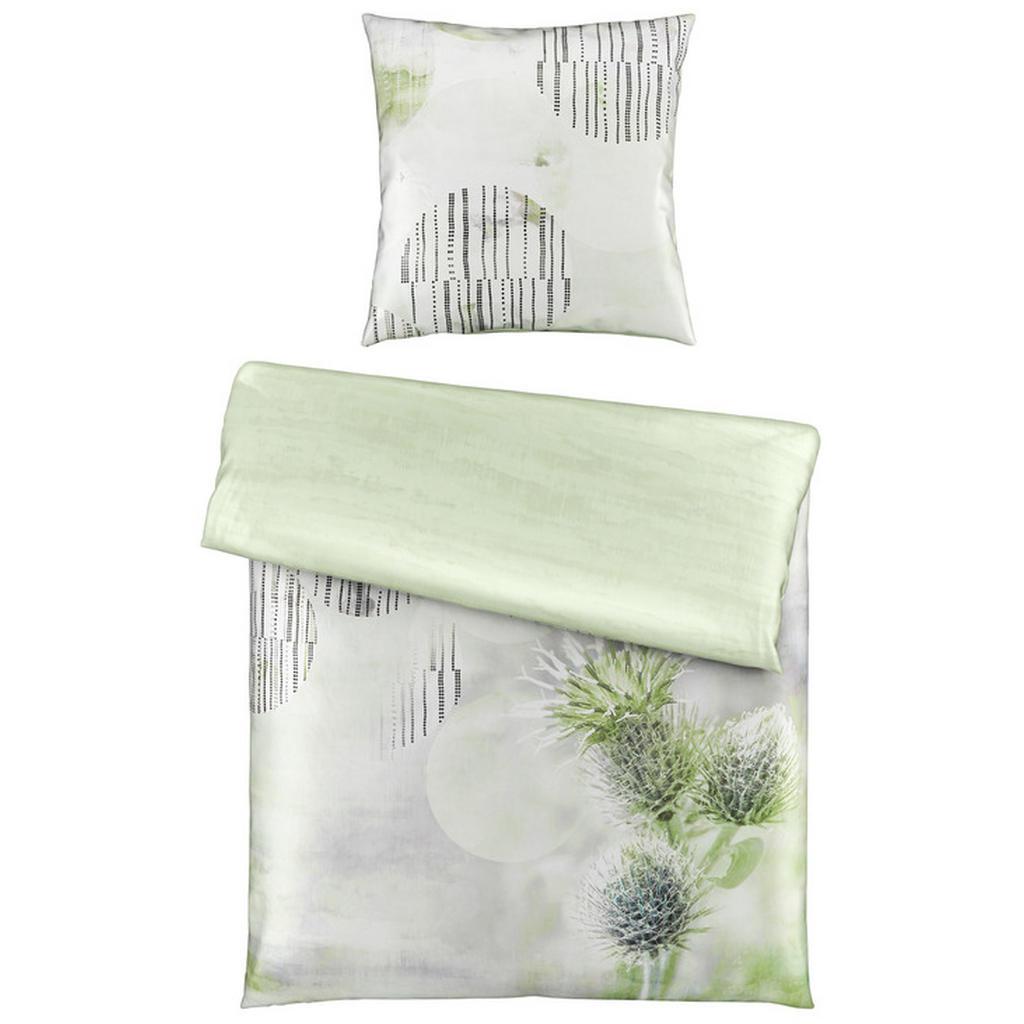 Esposa Bettwäsche , Grün , Textil , Floral , 155 cm , Textiles Vertrauen - Oeko-Tex® , atmungsaktiv, schadstoffgeprüft , Schlaftextilien, Bettwäsche, Bettwäsche