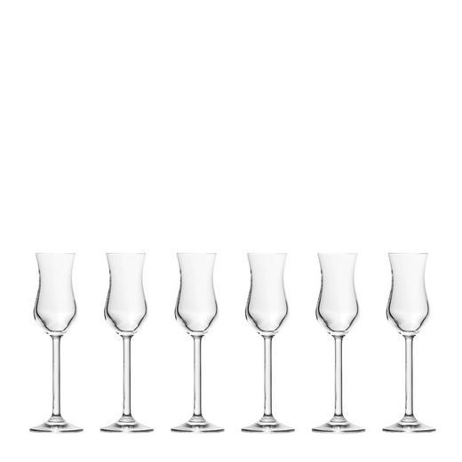 Grappaglas-Set 6-teilig - Klar, Basics, Glas (0,08cm) - Leonardo