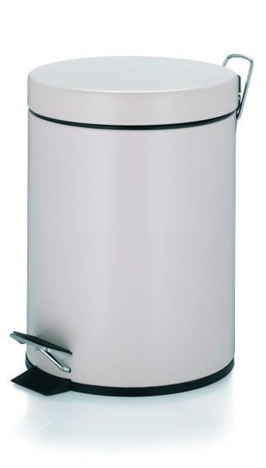KOSMETIKEIMER 5 L - Beige/Schwarz, Basics, Kunststoff/Metall (20,5/28,0cm)