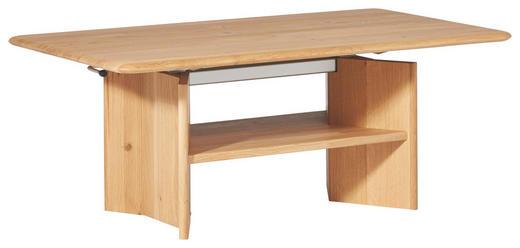 COUCHTISCH Wildeiche massiv rechteckig Eichefarben - Eichefarben, Design, Holz (120/70/49,5-68,5cm) - Escando Natürlich Wo