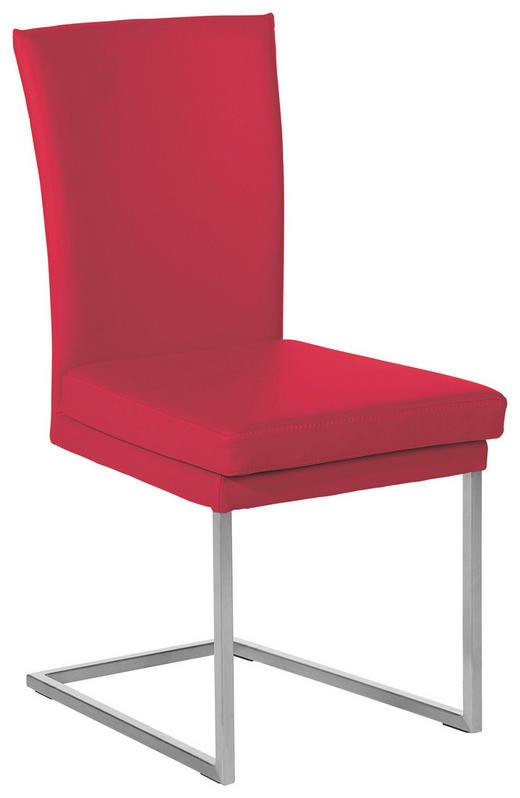 SCHWINGSTUHL Echtleder Rot - Rot, Design, Leder/Metall (47/95/57cm) - Musterring