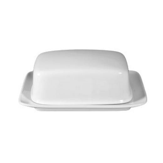 BUTTERDOSE Keramik Porzellan - Weiß, Basics, Keramik (0,25kg) - Seltmann Weiden