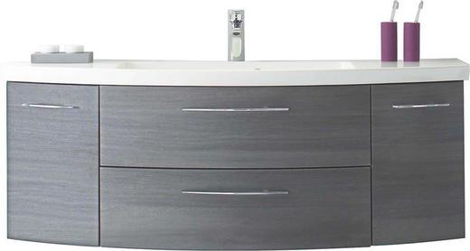 WASCHTISCHKOMBI Graphitfarben - Chromfarben/Graphitfarben, Design, Holzwerkstoff/Metall (140cm) - Sadena