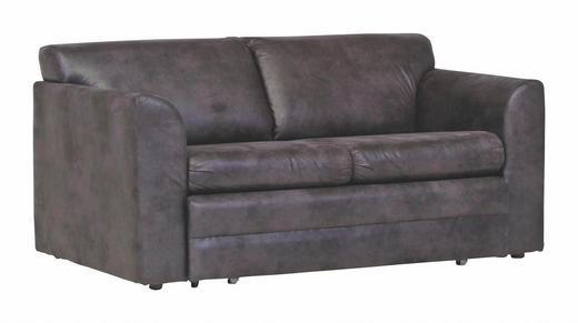 SCHLAFSOFA Lederlook Anthrazit - Anthrazit/Dunkelbraun, Design, Kunststoff/Textil (157/76/93cm) - CARRYHOME
