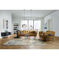 Zweisitzer-sofa in Gelb, Schwarz Textil   - Gelb/Schwarz, Modern, Holz/Textil (159/75/88cm) - Carryhome