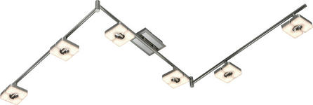 LED-STRAHLER - Nickelfarben, Design, Kunststoff/Metall (11/180cm) - Novel