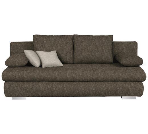 SCHLAFSOFA in Textil Braun - Chromfarben/Braun, Design, Kunststoff/Textil (205/88/96cm) - Ti`me
