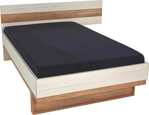 BETT 120/200 cm Eichefarben, Hellbraun - Hellbraun/Eichefarben, Design, Holzwerkstoff (120/200cm) - Venda