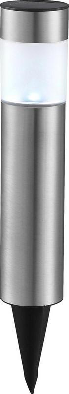 Solarleuchte 4er Set - Edelstahlfarben, KONVENTIONELL, Kunststoff/Metall (6,5/6,5/38cm) - BOXXX