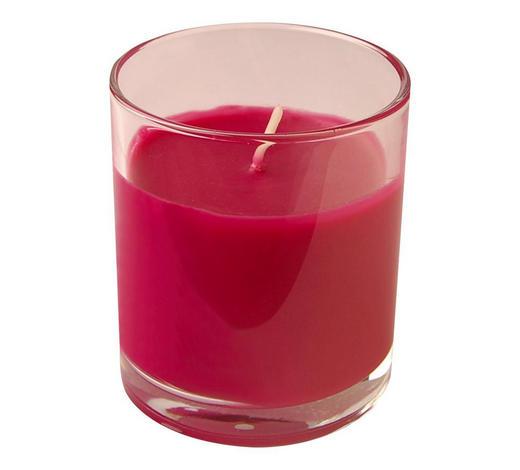 KERZE IM GLAS - Pink/Transparent, Basics, Glas (7,2/8cm) - Ambia Home