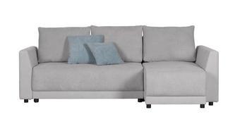 WOHNLANDSCHAFT in Hellblau, Hellgrau Textil - Hellgrau/Schwarz, Design, Kunststoff/Textil (227/140cm) - TI`ME