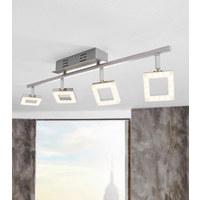 LED REFLEKTOR REAL II - aluminij/krom, Design, kovina/umetna masa (67,5/8/19cm) - Novel