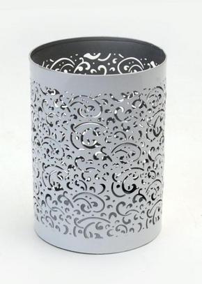 VÄRMELJUSHÅLLARE - vit/silver, Klassisk, metall (10/14cm) - Ambia Home