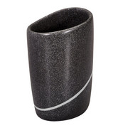 Zahnputzbecher - Schwarz, Design, Kunststoff (7,5/13cm) - Spirella