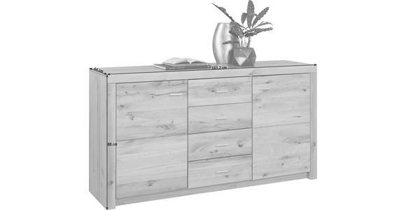 SIDEBOARD - Buchefarben/Alufarben, KONVENTIONELL, Holz/Kunststoff (163/88/44cm) - Cantus