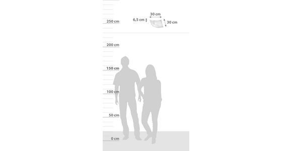 Deckenleuchte Davina 30x30 cm mit Satiniertem Glas - Weiß, ROMANTIK / LANDHAUS, Glas/Metall (30/30/6,5cm) - James Wood