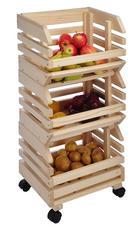 Kistenregal Set 3-teilig Naturfarben - Naturfarben, Basics, Holz (37/25/80cm)
