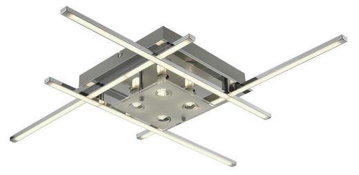 LED-DECKENLEUCHTE - Chromfarben, Design, Glas/Metall (68/7/68cm) - Novel