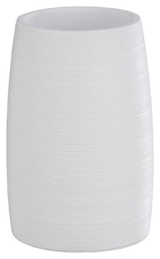 ZAHNPUTZBECHER - Weiß, Basics, Kunststoff (7,4/10,5cm)