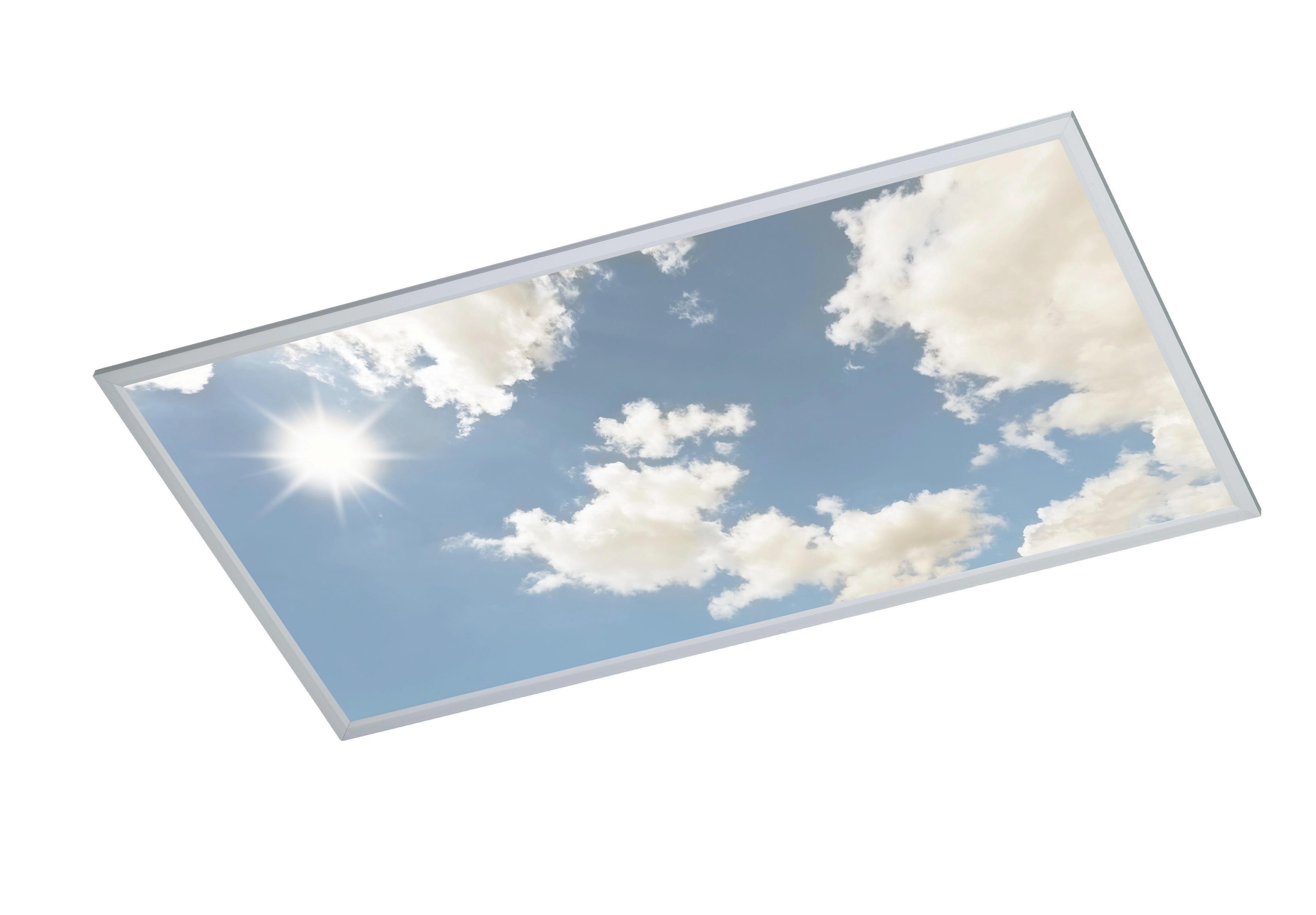 LED-DECKENLEUCHTE - Silberfarben, Design, Kunststoff/Metall (120/5,5/60cm)