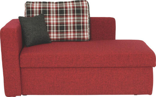 LIEGE - Rot/Schwarz, Design, Kunststoff/Textil (142/90/87cm) - Novel