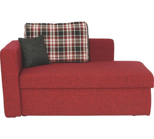 LIEGE Webstoff Rot  - Rot/Schwarz, Design, Kunststoff/Textil (142/90/87cm) - Novel