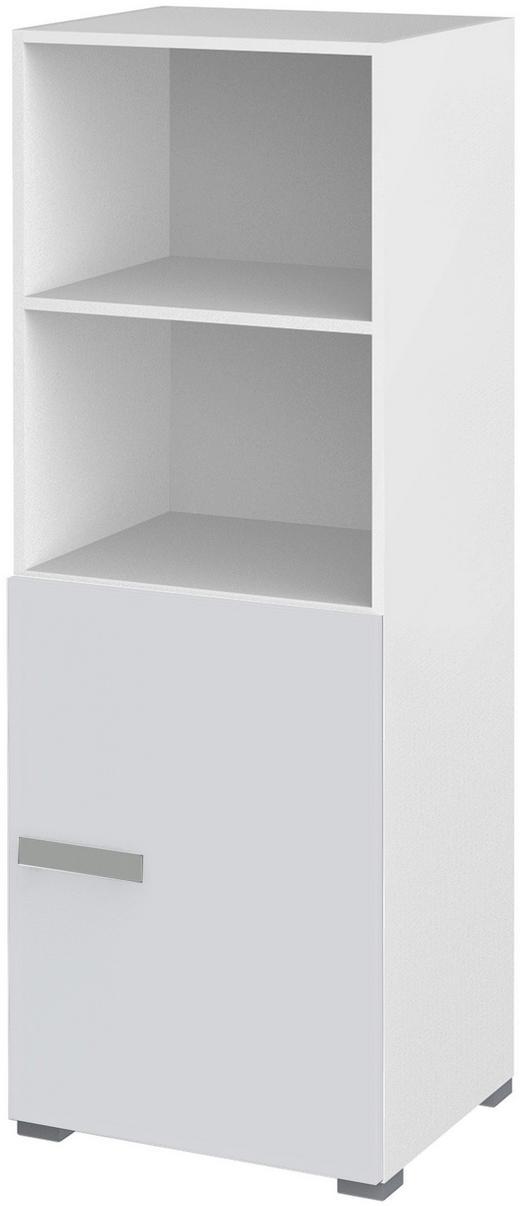 VITRINE in Silberfarben, Weiß - Silberfarben/Weiß, Design, Glas/Holzwerkstoff (50/146/44,3cm) - Xora