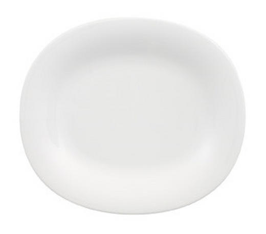 Porzellan  DESSERTTELLER  oval - Weiß, Basics (19/23cm) - VILLEROY & BOCH
