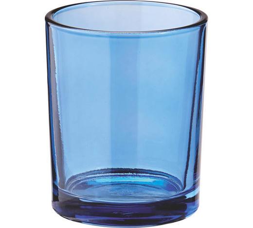 SVÍCEN NA ČAJOVOU SVÍČKU - světle modrá, Basics, sklo (5.5/6.5cm)