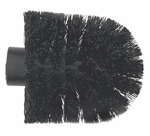NÁHRADNÍ HLAVA WC ŠTĚTKY - černá, Basics, umělá hmota (6.5cm) - Sadena