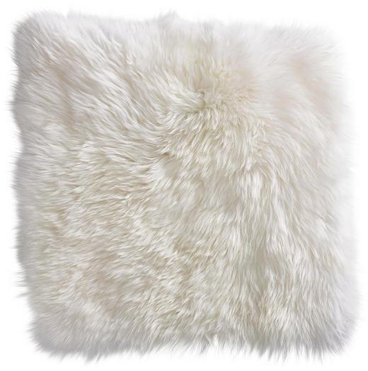 SITZKISSEN - Weiß, KONVENTIONELL, Fell/Textil (34/34/cm) - Esposa