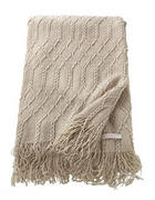 PLAID 140/200 cm Beige  - Beige, Textil (140/200cm) - Esprit