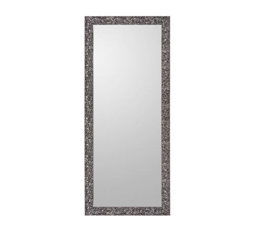 WANDSPIEGEL - Schwarz, Design, Glas/Holz (80/190cm)