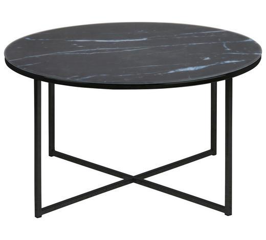 COUCHTISCH in Metall, Glas  80/45 cm - Schwarz/Weiß, Trend, Glas/Metall (80/45cm) - Carryhome