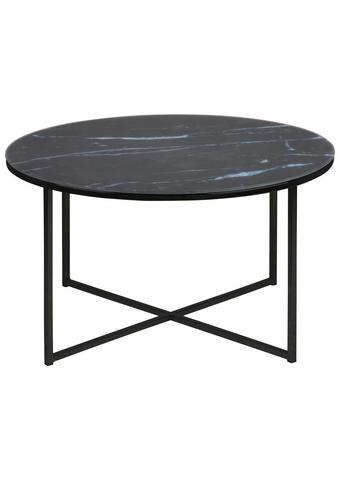 KLUBSKA MIZA, črna, bela  - črna/bela, Trend, kovina/steklo (80/45cm) - Carryhome