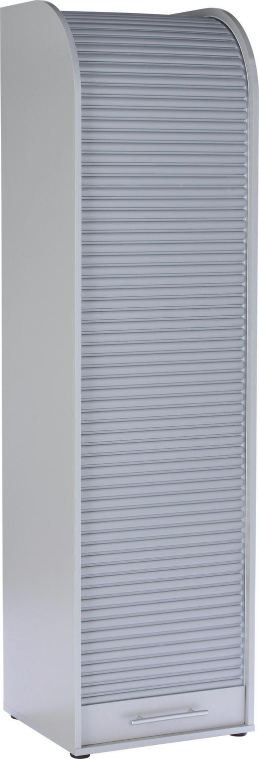 ROLLOSCHRANK Silberfarben - Silberfarben/Weiß, Design, Holzwerkstoff/Kunststoff (45/164/40cm) - Carryhome
