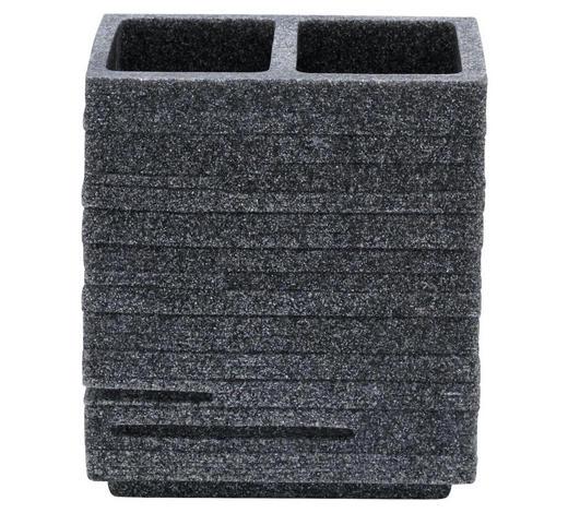 KALÍŠEK NA ÚSTNÍ HYGIENU, šedá - šedá, Basics, umělá hmota (10,1/11,5/6,3cm) - Sadena