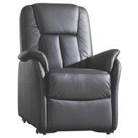TV-FOTELJ  črna les, tekstil, usnje - črna, Konvencionalno, tekstil/les (87/108/86cm) - CANTUS