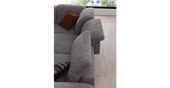 WOHNLANDSCHAFT Grau Webstoff  - Schwarz/Grau, Design, Textil/Metall (292/226cm) - Valnatura