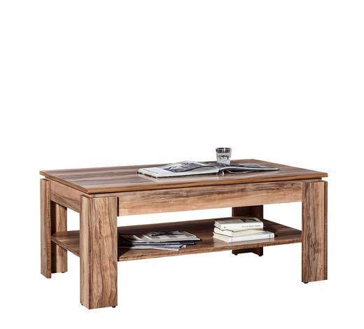 COUCHTISCH in Holzwerkstoff 110/65/47 cm   - Nussbaumfarben, Design, Holzwerkstoff (110/65/47cm) - Carryhome