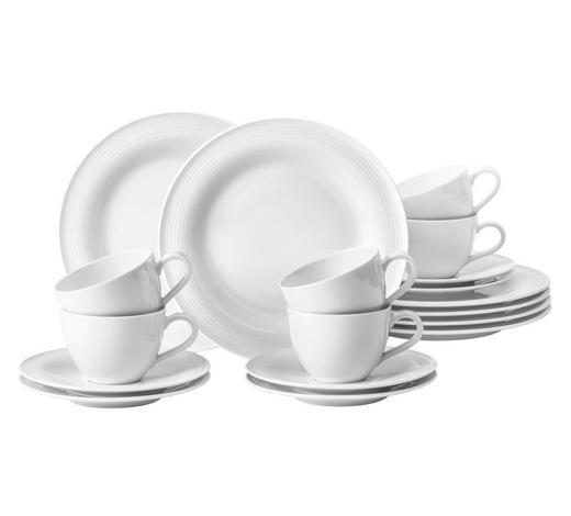 KAFFEESERVICE 18-teilig - Weiß, Basics, Keramik (43/24/18,1cm) - Seltmann Weiden