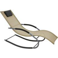 SCHAUKELLIEGE - Taupe/Schwarz, Design, Textil/Metall (63/86/147cm) - XORA