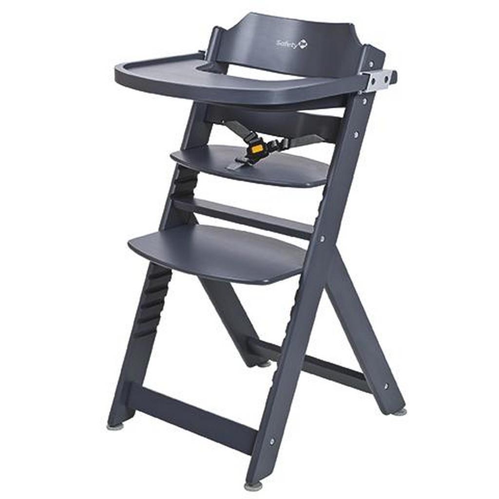 Safety 1st Hochstuhl Timba Buche Dark Grey, Grau | Kinderzimmer > Kinderzimmerstühle > Hochstühle | Holz | Safety 1st