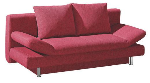 SCHLAFSOFA Rot - Chromfarben/Rot, Design, Kunststoff/Textil (195/87/93cm) - NOVEL