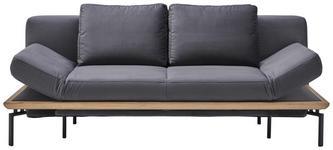 SCHLAFSOFA in Textil Anthrazit  - Anthrazit/Schwarz, MODERN, Holz/Textil (214/89/103cm) - Dieter Knoll
